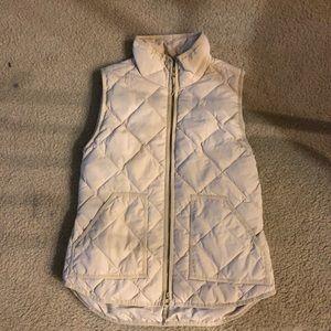J Crew Camel Quilted Vest